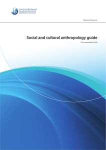 Social and cultural anthropology guide
