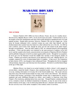 Romanticism vs. Realism in gustav flaubert's madame bovary by paul.