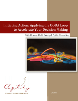 Applying the OODA Loop to Accelerate Your Decision Making