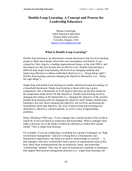 Double-Loop Learning - Association of Leadership Educators