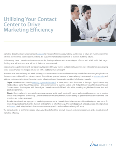 Utilizing Your Contact Center to Drive Marketing Efficiency
