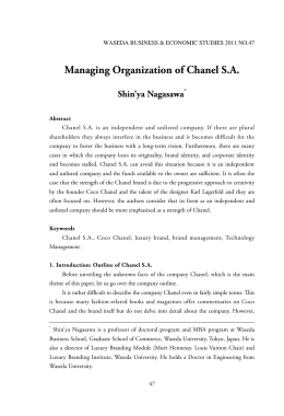 Managing Organization of Chanel S.A.
