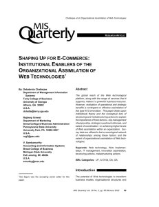 Shaping Up for E-Commerce: Institutional Enablers of the