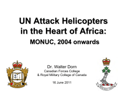Attack Helicopters in the Heart of Africa: MONUC, 2004 onwards