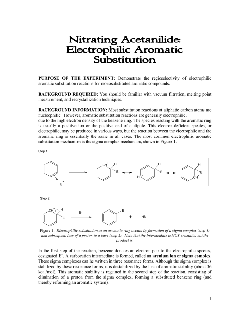 nitration of acetanilide theoretical yield