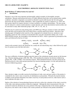 "(MAJOR""S) KELLY ELECTROPHILIC AROMATIC SUBSTITUTION"