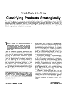 Classifying Products Strategically
