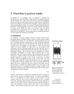 3 Fluid flow in porous media