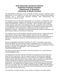 Full/Associate/Assistant Position Assistant Professor Position