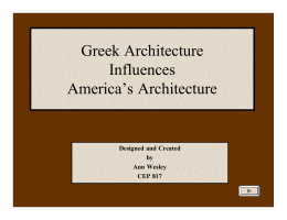 Greek and Roman Architectural Influences in America