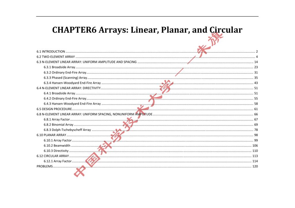 CHAPTER6 Arrays: Linear, Planar, and Circular
