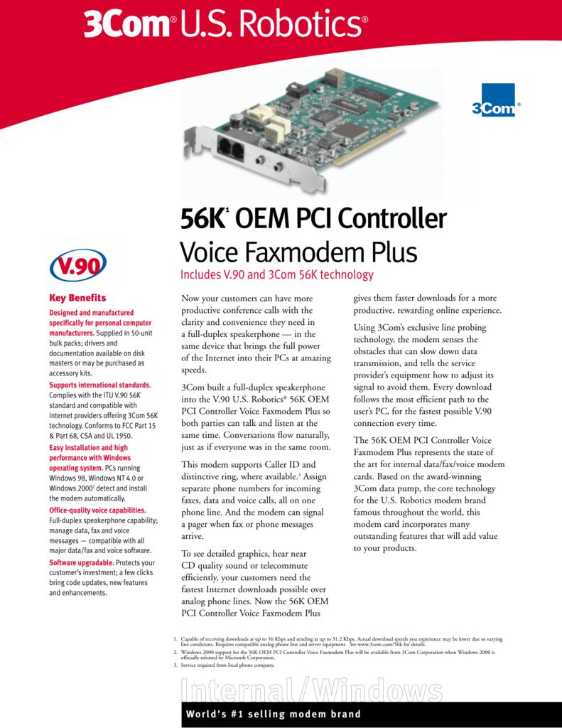 Drivers: 3Com 56k voice internal pci