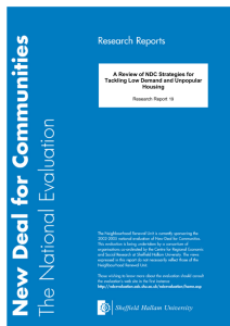 A Review of NDC Strategies for Tackling Low Demand and