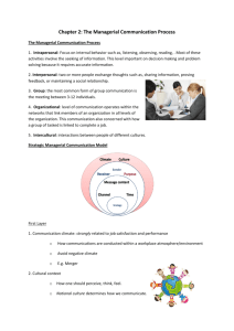 Chapter 2: The Managerial Communication Process