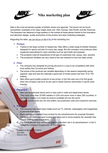 Comparison Supply Chain Management Practices of Nike & Adidas