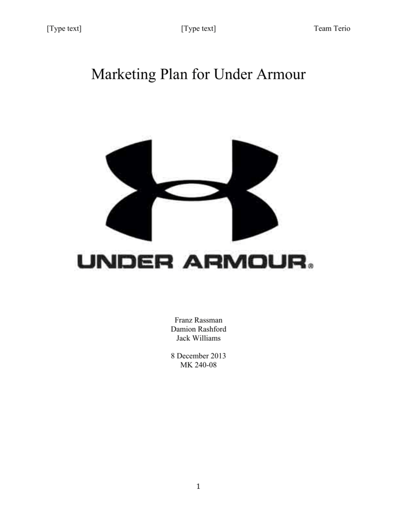 Marketing Plan for Under Armour