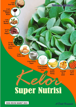 Kelor, Super Nutrisi
