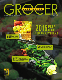 2015media guide - California Grocers Association