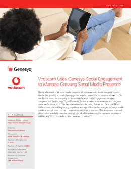 Vodacom Uses Genesys Social Engagement to Manage Growing