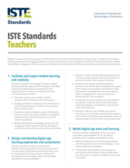 ISTE Standards Teachers