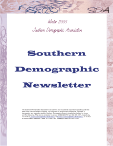 Winter - Southern Demographic Association
