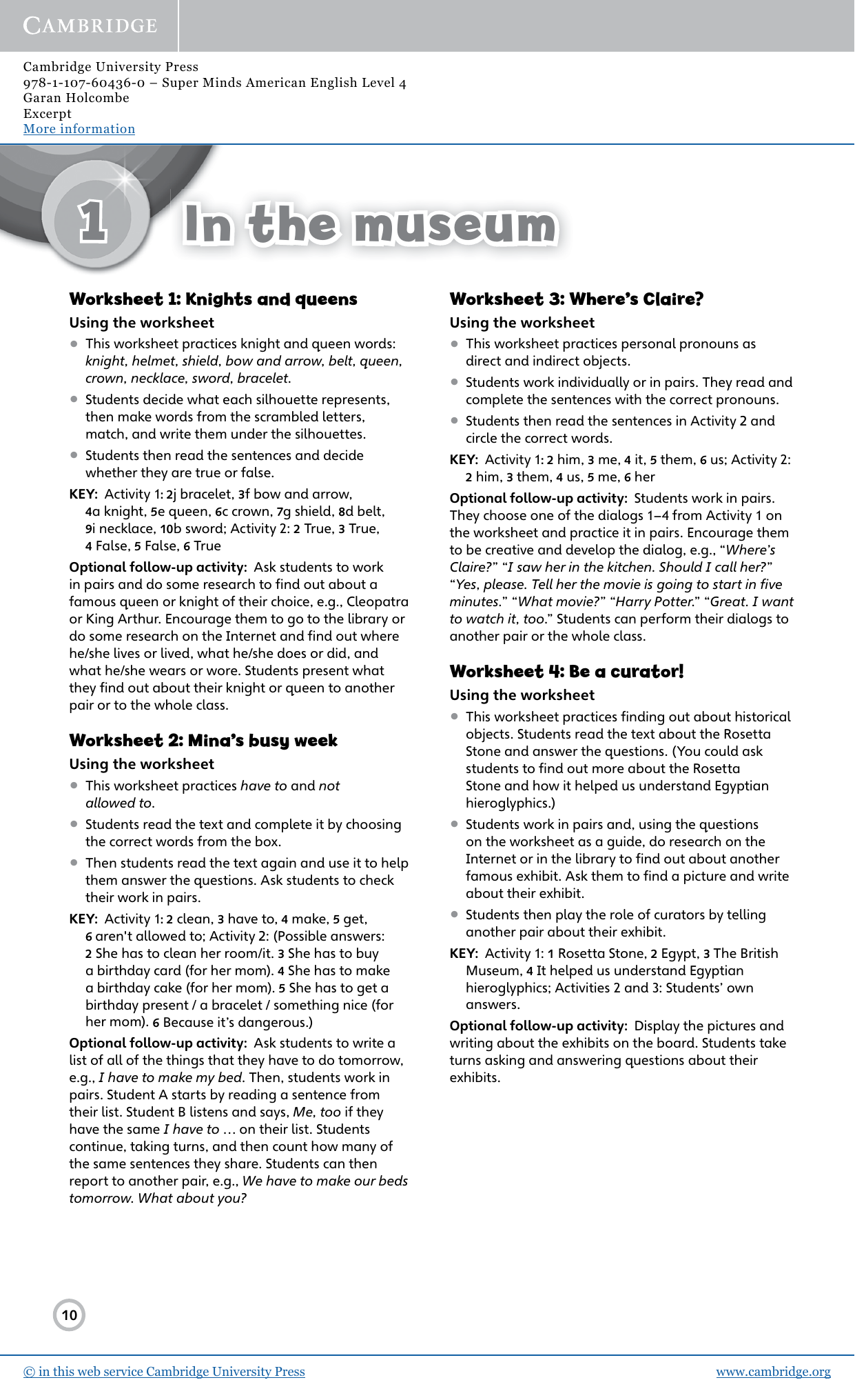 Super Minds American English Level 4 Teachers Resource Book