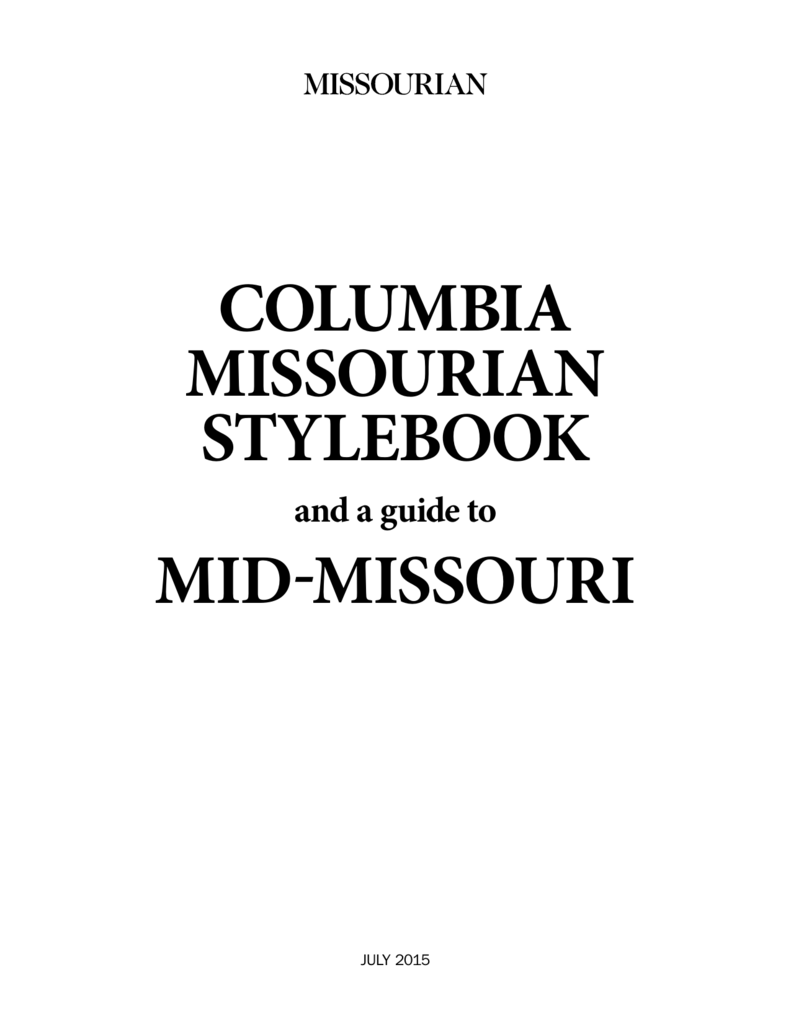 columbia missourian stylebook mid-missouri