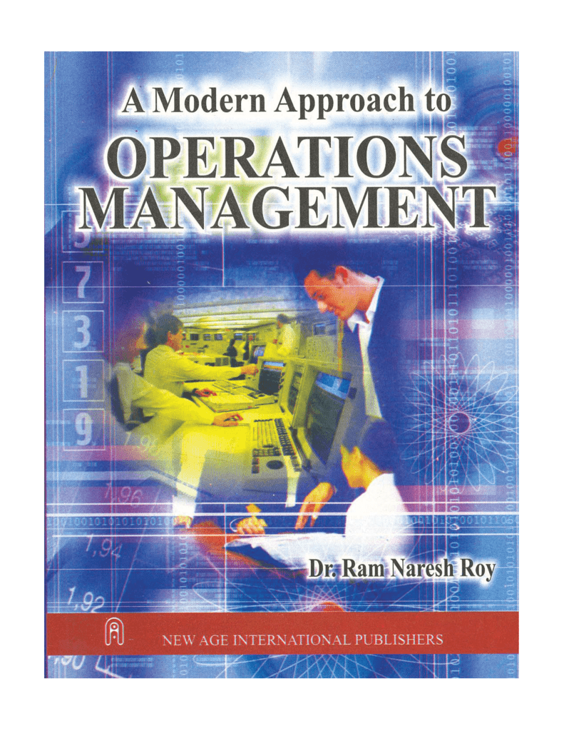 Modern approach to operations management fandeluxe Gallery