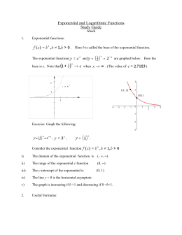 Exponential and Logarithmic.Functions Study Guide