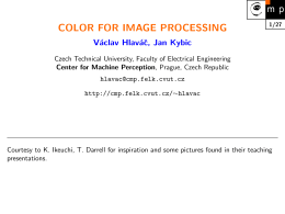 color for image processing - Center for Machine Perception