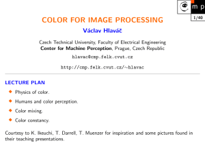 COLOR FOR IMAGE PROCESSING