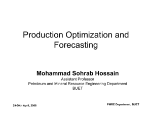Production Optimization and Forecasting
