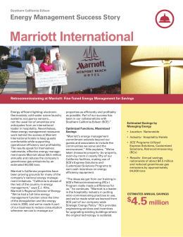 Marriot RCx Project Case Study
