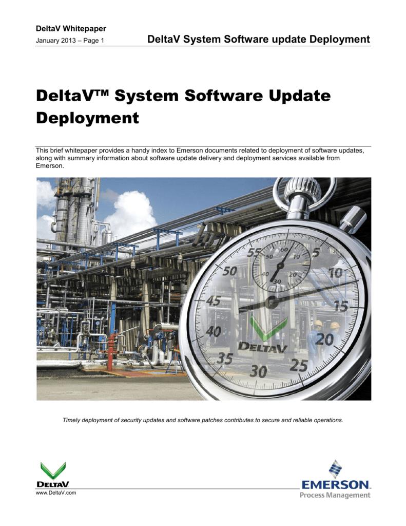 DeltaV System Software update Deployment