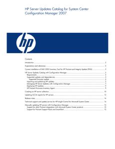 HP Smart Update Manager (SUM)