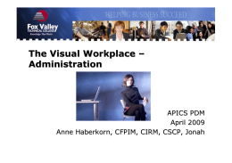 The Visual Workplace - Competitiveamerica.us