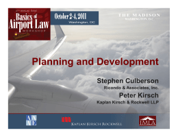 Airport Planning and Development