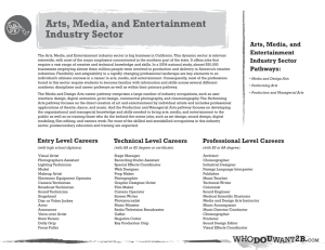 Arts, Media, and Entertainment Industry Sector
