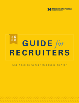 Guide for Recruiters - Engineering Career Resource Center