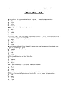 Element of Art Quiz 1