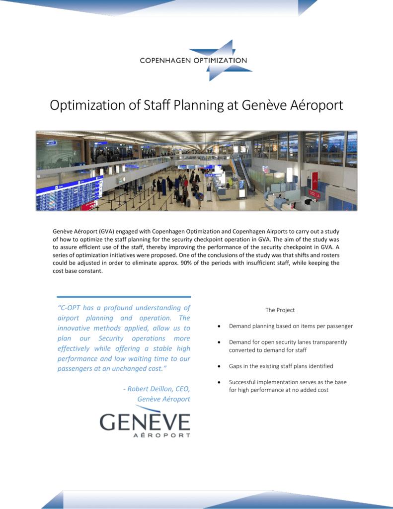 Optimization of Staff Planning at Genève Aéroport