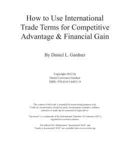 How to Use International Trade Terms for Competitive Advantage