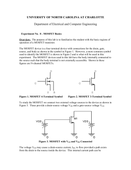 MOSFET Basics - Electrical and Computer Engineering at UNC