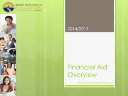 Financial Aid Overview - Jupiter Christian School