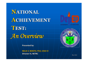 National_achievement_test_dr Benito