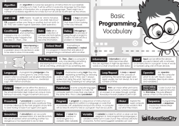 Basic Programming Vocabulary