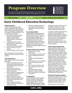 Early Childhood Education Technology
