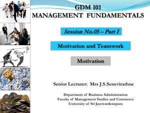 gdm 101 management fundamentals