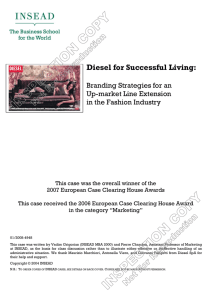 Diesel for Successful Living - Case studies
