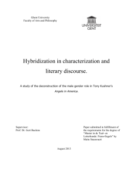 Hybridization in characterization and literary discourse.